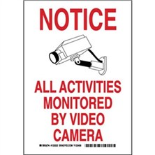 Notice All Activities Monitored By Video Camera Signs