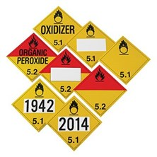 department of transportation dot hazmat placards from labelmaster