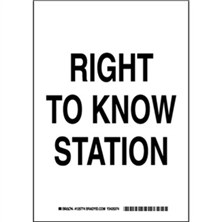 Right To Know Station Signs