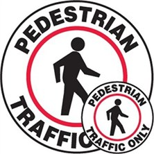 Pedistrian Traffic Only Signs