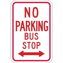 No Parking Bus Stop (With Two-Way Arrow)