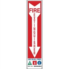 Fire Extinguisher Use One All Fires A B C Signs