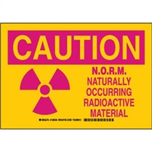 Caution - Norm Naturally Occurring Radioactive Material Signs