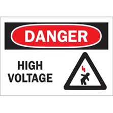 Danger, High Voltage (With Person Symbol)