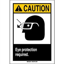 Ansi Caution, Eye Protection Required