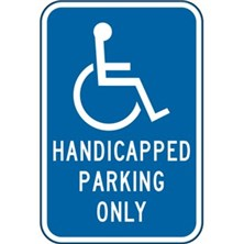 Handicap Parking Only With Symbol