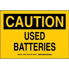 Caution - Used Batteries Signs