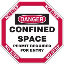 Danger, Confined Space Permit Required For Entry