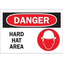 Danger, Hard Hat Area (With Picto)