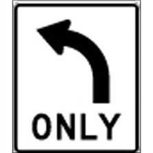 Left Turn Only Symbol