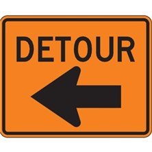 Detour With Left Arrow