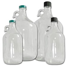 Clear Glass Jugs with Caps