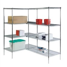4-Shelf Wire Shelving Units