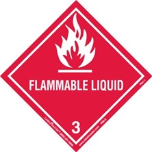 Worded Flammable Liquid Labels