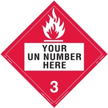 Personalized Flammable Liquid Placards