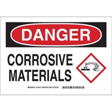 Danger - Corrosive Materials (With  Ghs Picto) Signs
