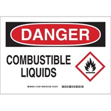 Danger - Combustible Liquids (With  Ghs Picto) Signs