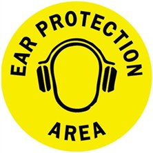 Ear Protection Area Signs
