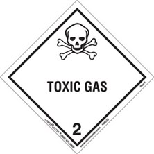 Worded Toxic Gas Labels