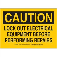 Caution - Lock Out Electrical Equipment Before Performing Repairs