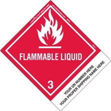 Personalized Shipping Name Flammable Liquid Labels