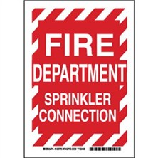 Fire Department Sprinkler Connection Signs