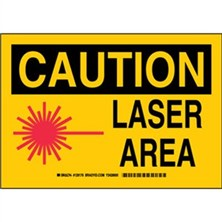 Caution - Laser Area Signs