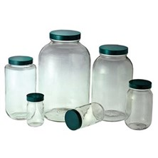 Clear Standard Wide Mouth Bottles with Caps