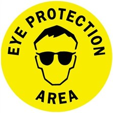 Eye Protection Area Signs