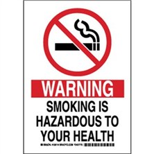 Warning Smoking Is Hazardous To Your Health Signs