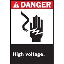 Danger, High Voltage (With Picto Hand)