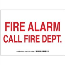 Fire Alarm Call Fire Dept. Signs