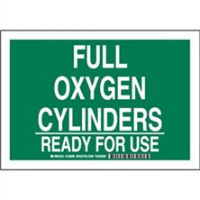 Full Oxygen Cylinders Ready For Use Signs