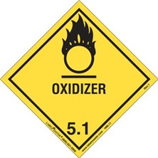 Worded Oxidizer Labels