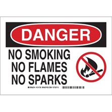 Danger - No Smoking No Flames No Sparks (With  Picto) Signs