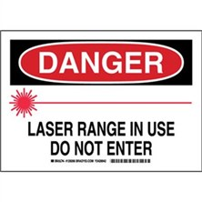 Danger - Laser Range In Use Do Not Enter Signs