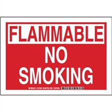 Flammable No Smoking Signs