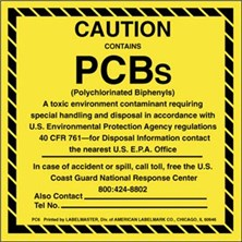 Caution Contains PCBs Labels