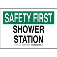 Safety First - Shower Station Signs