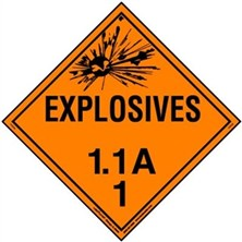 Explosive 1.1 Placards