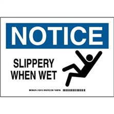 Notice - Slippery When Wet Signs