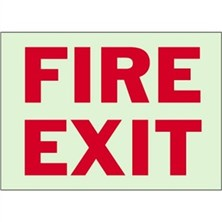 Fire Exit (Red On Glow-In-The-Dark)