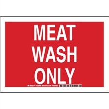 Meat Wash Only Signs