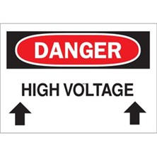 Danger, High Voltage Above (With Arrows)