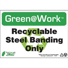 Recyclable Steel Banding Only Signs