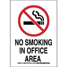 No Smoking In Office Area Signs