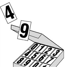 "DOT Placard 3 1\2"" Numbers"