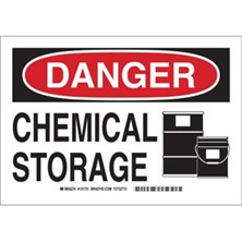 Danger - Chemical Storage (With  Picto) Signs