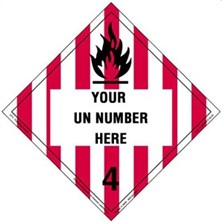 Personalized Flammable Solid Placards