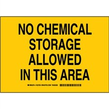 No Chemical Storage Allowed In This Area Signs